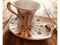 Macintosh rose tea cake plate and mug set