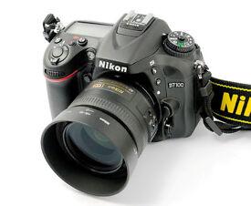 Nikon d7100 + 18-55 + 35mm nikkor 1.8