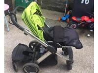 Oyster pram and carry cot with toddler board