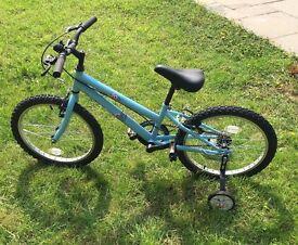 TRAX TR20 Children kids / girls/ unisex bike (20'') with stabilizers