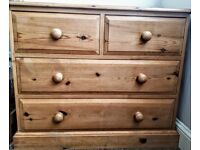Solid Pine chest of drawers and 2 bedside cabinets