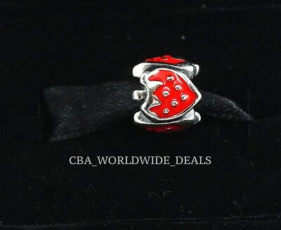 NEW Authentic PANDORA Sterling Silver Sweet Red Strawberries Charm 791091EN09