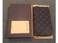 Louis Vuitton Damier Ebene Canvas Zippy Wallet Purse Organiser. Brand New.