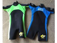 Children's shortie wetsuit sold separately (£5) or together (£10)