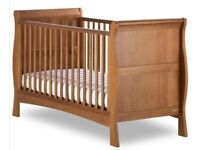 Izziwotnot Bailey Sleigh Cot Bed (Oak)