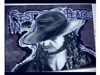 WWE UNDERTAKER Limited Edition Painting