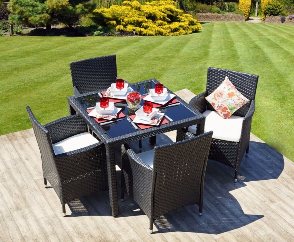 CHRISTMAS GIFT BLACK RATTAN TABLE AND CHAIRS garden  : 86 from www.gumtree.com size 1024 x 842 jpeg 167kB