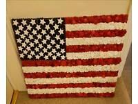 Handmade USA Button flag