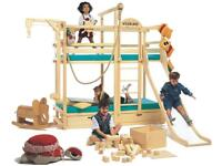 Fabulous Children's Adventure Bunk Bed! Slide, ship's wheel, pulley, lots of storage!