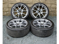 "20"" Genuine BMW 5 Series F10 Alloy wheels and tyres 5x120 F11 6 series F12 F13"