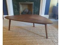 Coffee table in walnut finish