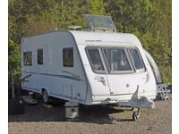 Sterling Eccles Jade, 2007 Fixed Twin Single Beds, Very Well Built Swift Group Touring Caravan