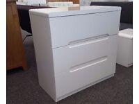 Julian Bowen Manhattan White High Gloss 3 Drawer Chest Can Deliver View Collect Hucknall Nottingham