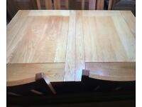 Beautiful solid oak dining table and four solid oak dining chairs