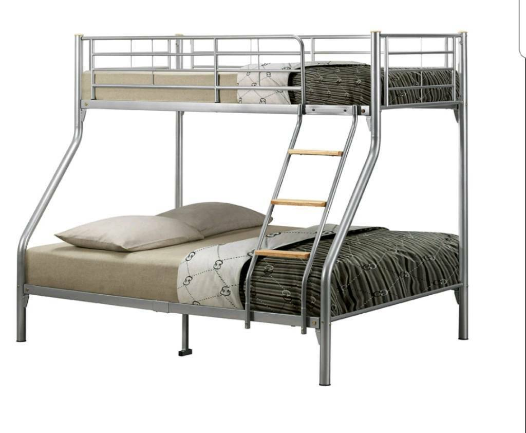 Ikea Triple Sleeper Bunk Metal Bed For Adults And Children In