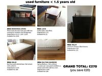 Sofa-Bed, Bed Frame & Mattress and Chest of Drawers in very good condition