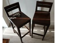 Barstools x 2 (Brown)
