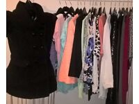 LADIES CLOTHES - 20 PIECES - SIZE 10 & 12 - TOPS, TROUSERS, KNITWEAR - HIGH ST BRANDS