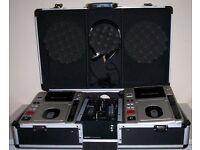Numark cd decks TCD05 + recent new Gemini Mixer.