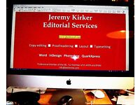 Jeremy Kirker Editorial Services, proofreading, copy-editing and design