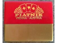 Dual Pack Of Vintage Piatnik Miniature Playing Cards (plastic case)