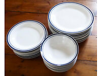 Set of Ten Dinner Plates, Ten Cereal Bowls, and Nine Breakfast Plates in perfect condition