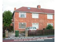 SEMI DETACHED HOUSE FOR SALE, GATESHEAD, 3 BEDS, FREEHOLD, NO CHAIN, CASH BUYER REQUIRED IF POSS.