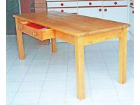 HABITAT SOLD SCANDINAVIAN PINE WOOD KITCHEN TABLE