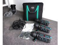 Bowens 3 head studio ,complete kit
