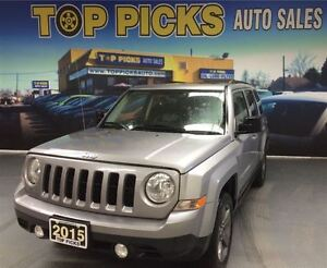 2015 Jeep Patriot HIGH ALTITUDE, LEATHER, SUNROOF, 4X4 AND MORE!