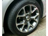 "Vauxhall vectra astra zafira saab 17"" vxr alloys x4 new tyes"