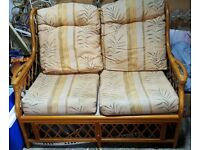 Traditional Conservatory Cane Two Seater Sofa