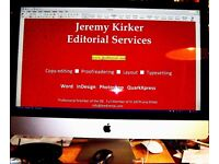 Jeremy Kirker Editorial Services, proofreading, editing and design