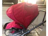 Mamas and papas Mylo raspberry and teal travel system