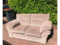 Two and Three seater Oak Furniture Land beige Sofas.