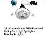 65mm chrome down lighting