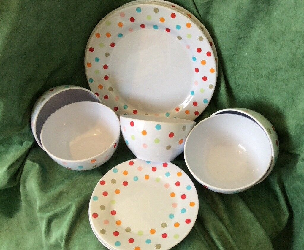 Spotty melamine plates and dishes & Spotty melamine plates and dishes   in Stoke-on-Trent Staffordshire ...