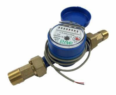 Dae As200u-75p Water Meter Pulse Output 34 Inch Npt Couplings Gallon