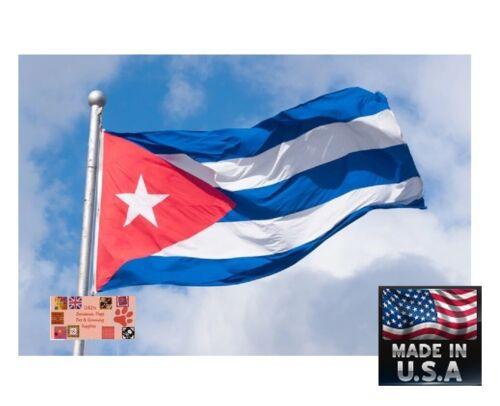 USA Made CUBA Flag BANDERA DE CUBAN 3x5 Foot Super-Poly Banner Cubano Cubana