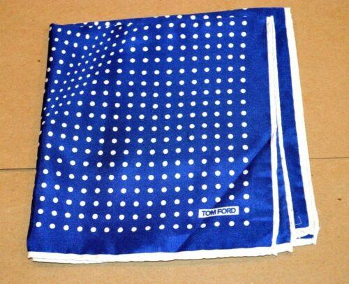 $165 NWOT TOM FORD Blue w/ white polka dots Men
