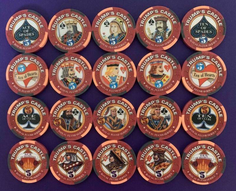 Trump Royal Flush Casino Chips full set