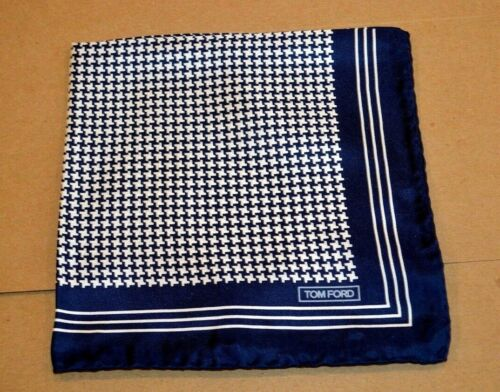 $165 NWOT TOM FORD Navy and white puppytooth Men