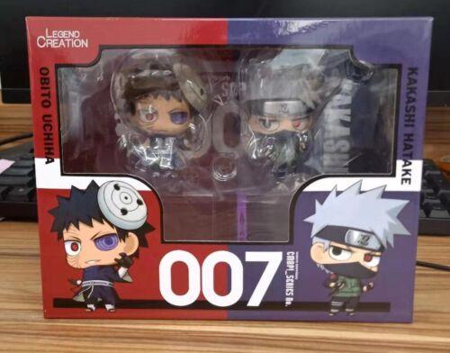 """2pcs Naruto 3.1"""" Action Figures Toy Set: Kakashi Hatake & Ubito Uchiha Cute OPEN"""