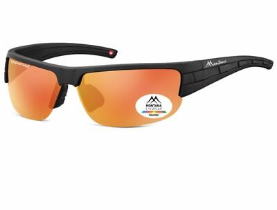 Montana SP306B Gran Deportivo Gafas de Sol Negro Rojo Reflectante Ciclismo