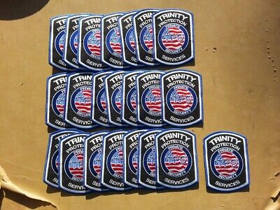 21 Shoulder Patches Badges. Trinity Protection Service Private Security. New.