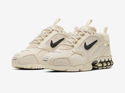 Nike Air Zoom Spiridon STUSSY Fossil Size 9.5 NEW w/ Box (Confirmed Order)