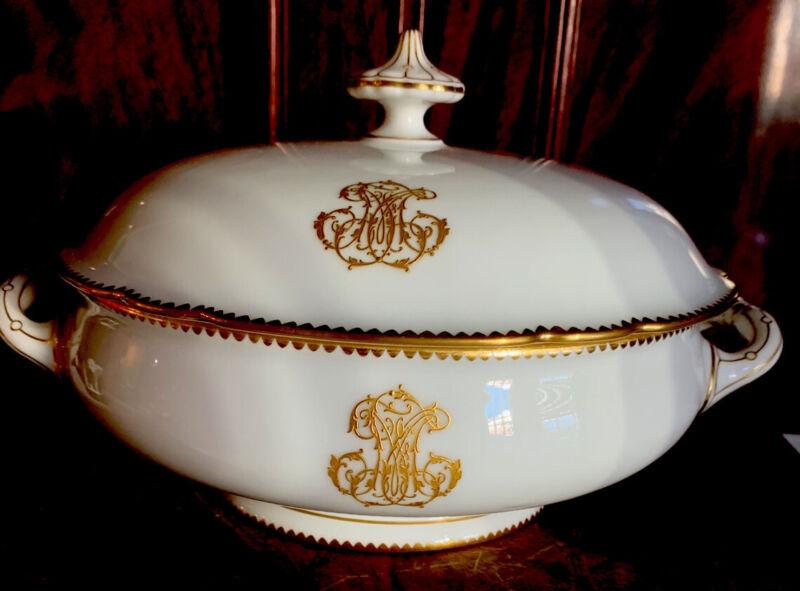 Antique French Paris Porcelain Tureen