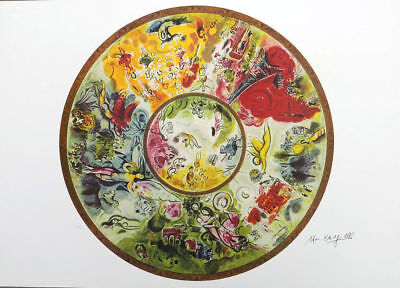Marc Chagall PARIS OPERA CEILING Litho Print Signed Numbered COA