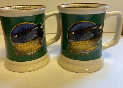 Polar Express Coffee Hot Chocolate Train Ride Believe Mug Cup Set Of 2 Christmas