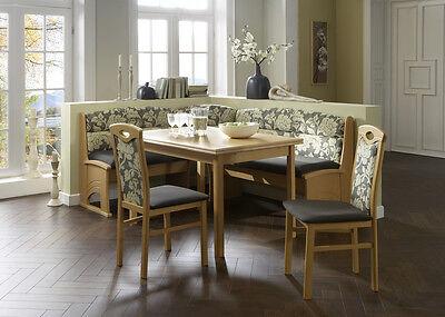 Eckbankgruppe Bregenz 4 teilig Essbankgruppe Tischgruppe Buche natur Dekor Tisch (Dekor-tisch Wohnzimmer)